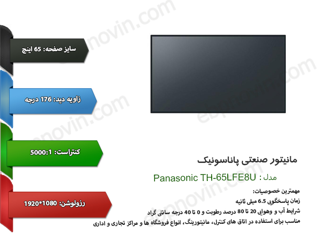 مانیتور صنعتی پاناسونیک Panasonic TH-65LFE8U